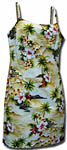 Tropical Diamond Head Short Spaghetti Strap Dress