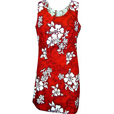 Hibiscus Floral Print Short Tank Dress