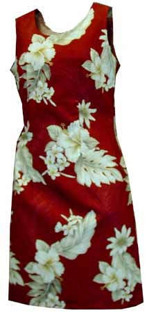Hibiscus Floral Short Tank Dress