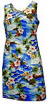 Tropical Diamond Head Short Tank Dress