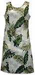 Plumeria Palm Leaf Short Tank Dress