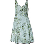 Hibiscus Palm Fronds Sundress