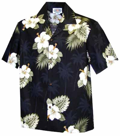 Hibiscus Palms Womens Hawaiian Blouse