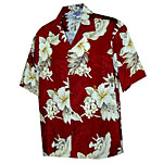 Hibiscus Floral Womens Hawaiian Blouse