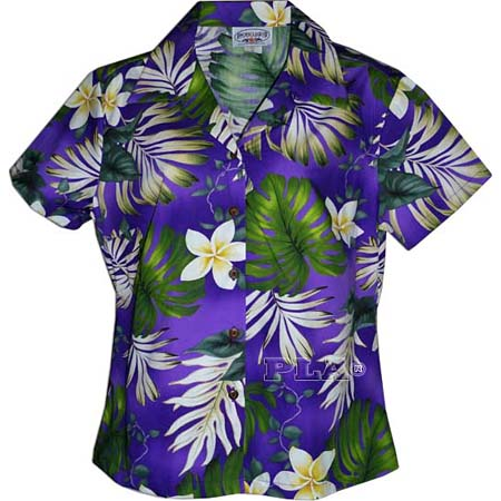 Womens Fitted Hawaiian Blouse