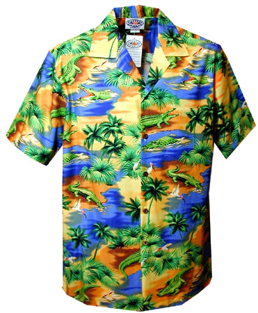 Alligator Lagoon Mens Hawaiian Shirt