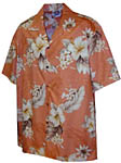 Hibiscus Floral Mens Hawaiian Shirt