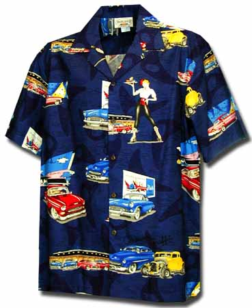 Classic Drive-In Mens Hawaiian Shirt