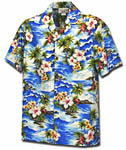 Tropical Diamond Head Mens Hawaiian Shirt