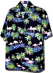 Flamingo Lagoon Mens Hawaiian Shirt