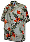 Bird of Paradise Mens Hawaiian Shirt