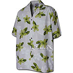 Plumeria Flower Men's Hawaiian Shirt