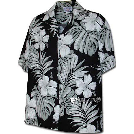 Hibiscus Palm Fronds 2 Men's Hawaiian Shirt