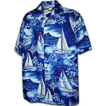 Diamond Head Sailing Mens Hawaiian Shirt