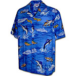 Marlin Fishing 2 Mens Hawaiian Shirt