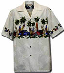 Longboard Woody Boys Hawaiian Border Shirt