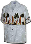 Surfboard Floral Boys Hawaiian Border Shirt