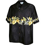 Antherium Heliconia Men's Hawaiian Chest Shirt