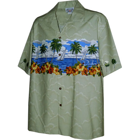 Men's Hawaiian Chest Shirt