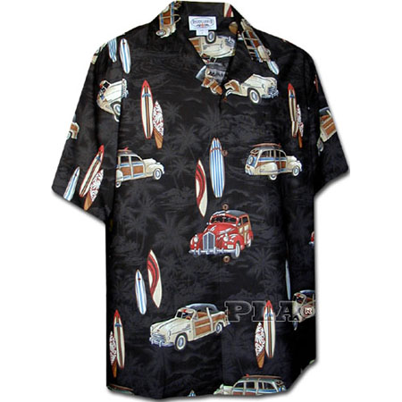 Men's Hawaiian Matched Front Shirt