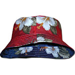 Hibiscus Palms Small Hawaiian Reversible Bucket Hat