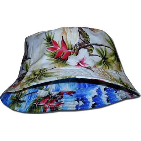 Small Hawaiian Reversible Bucket Hat